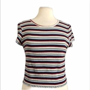 American Eagle Striped Cropped Top